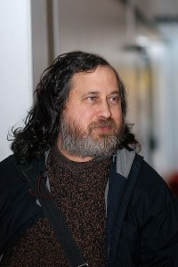 Richard Stallman in der Universität Oslo am 23.02.2009